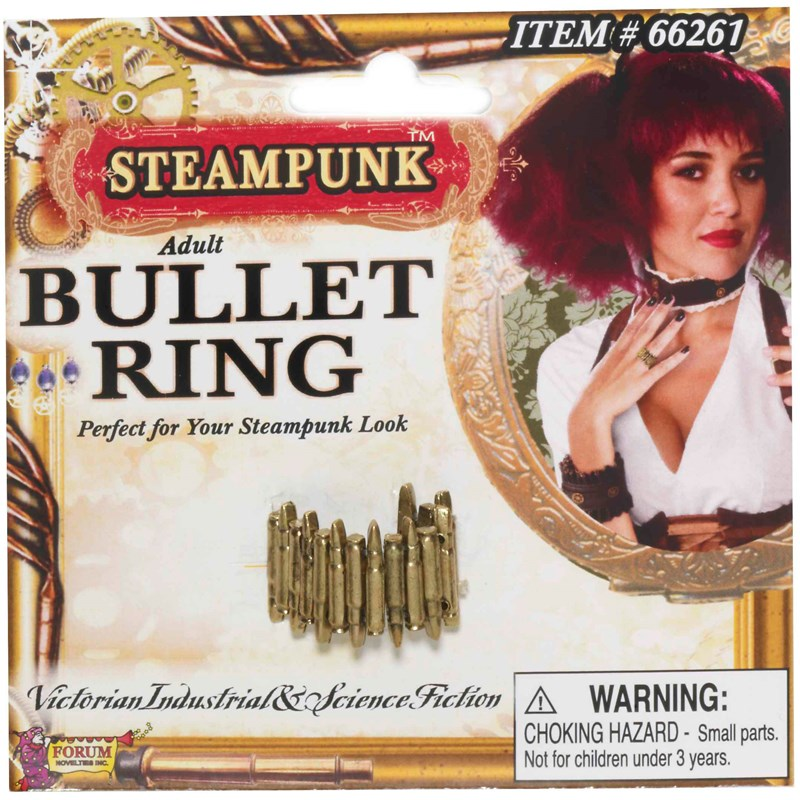 Steampunk Bullet Ring Adult for the 2015 Costume season.