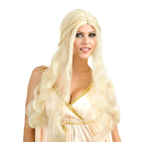 Blonde Flower Child Wig (Adult)