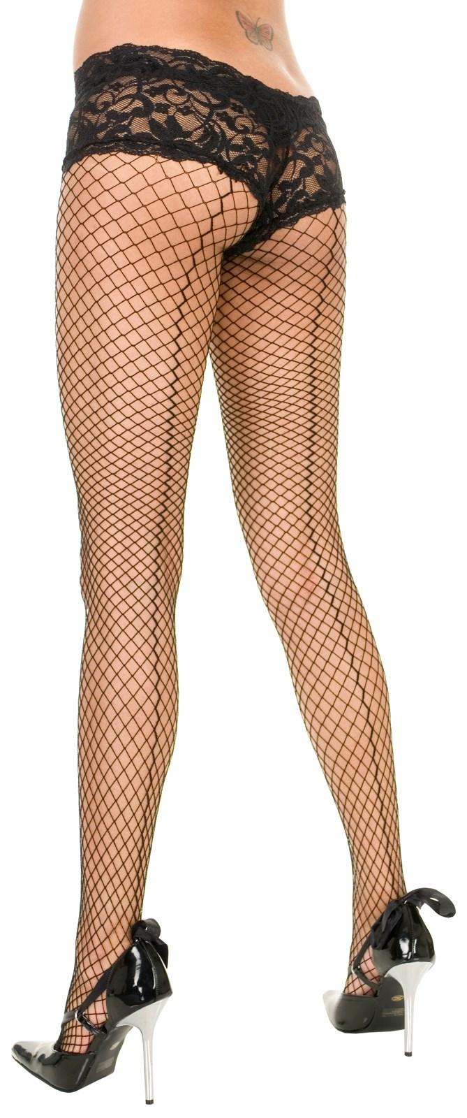 Image of Backseam Fence Net Pantyhose (Adult)