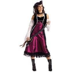 Adult Pirate's Pleasure Adult Costume- Purple:  /