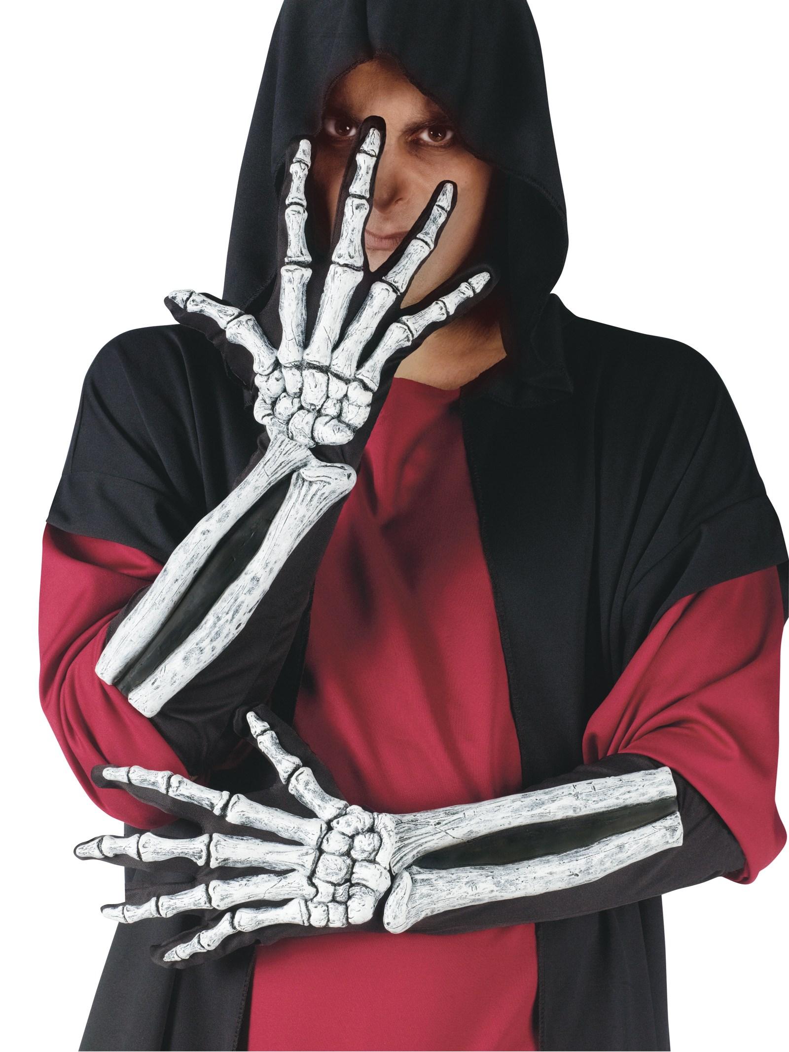 Skeleton Glove And Wrist Bone Gloves Adult