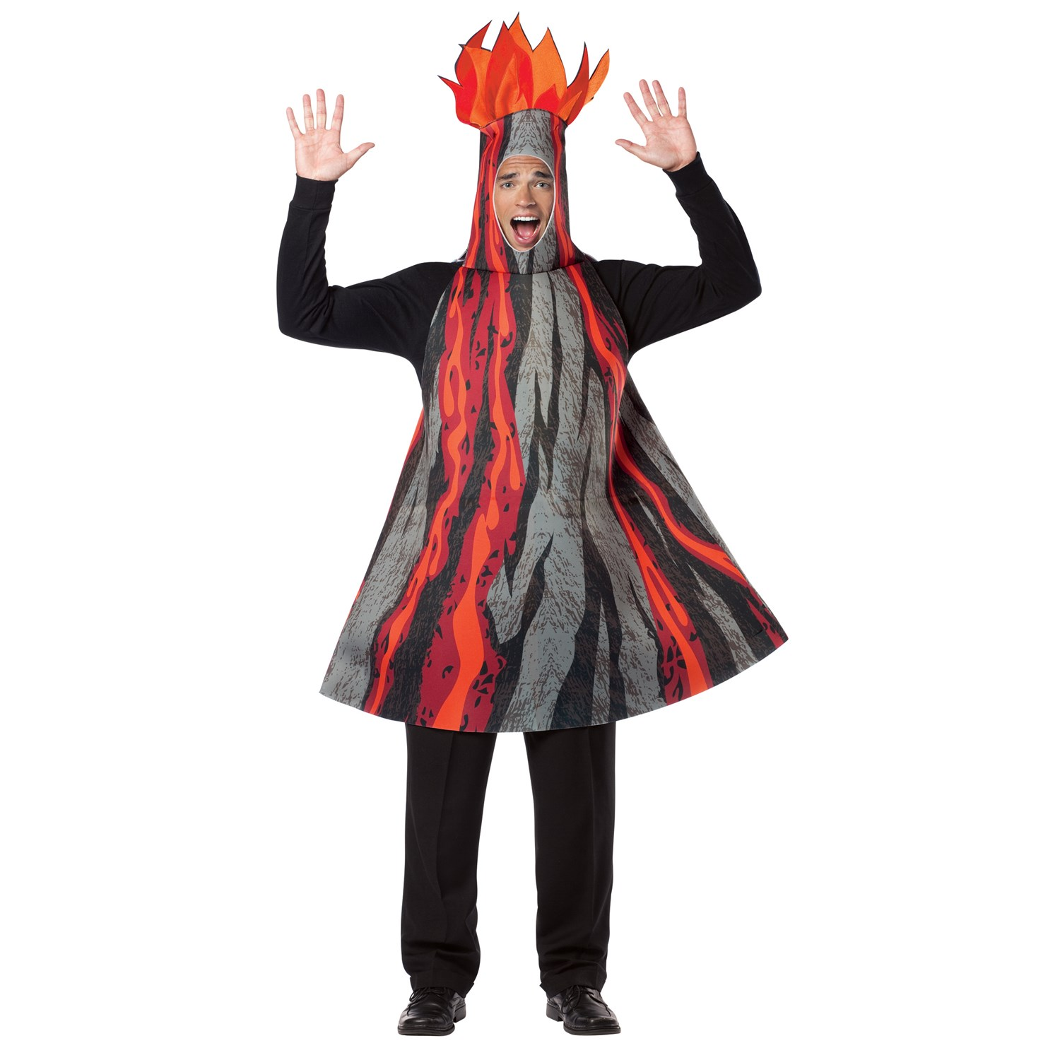 how to make a volcano costume