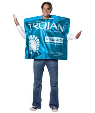 Trojan Lubricated Condom Wrapper Adult Costume