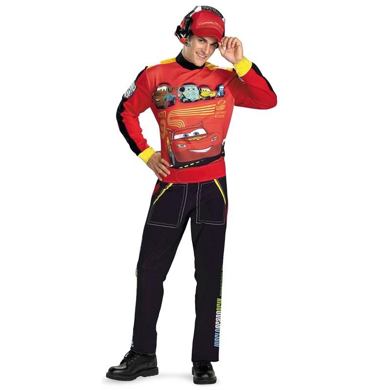 Disney Cars Lightning Mcqueen Adult Costume for the 2015 Costume season.