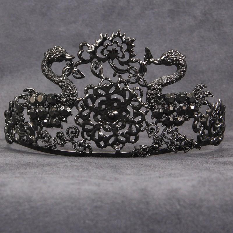 Black Jeweled Adult Tiara for the 2015 Costume season.