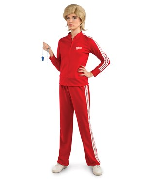 Glee - Sue Track Suit Red Adult Costume