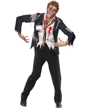 Worked To Death - Office Zombie Male Adult Costume