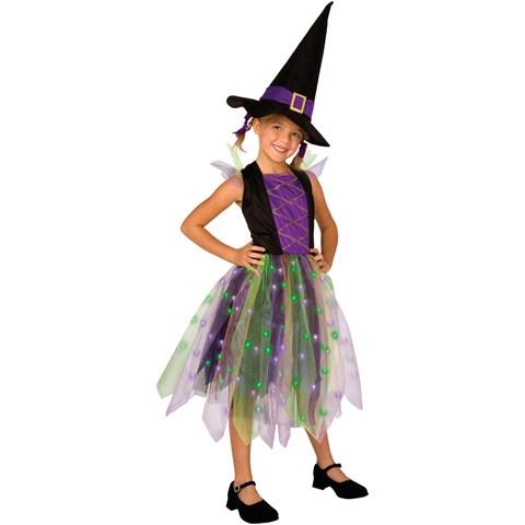 Light-Up Rainbow Witch Child Costume