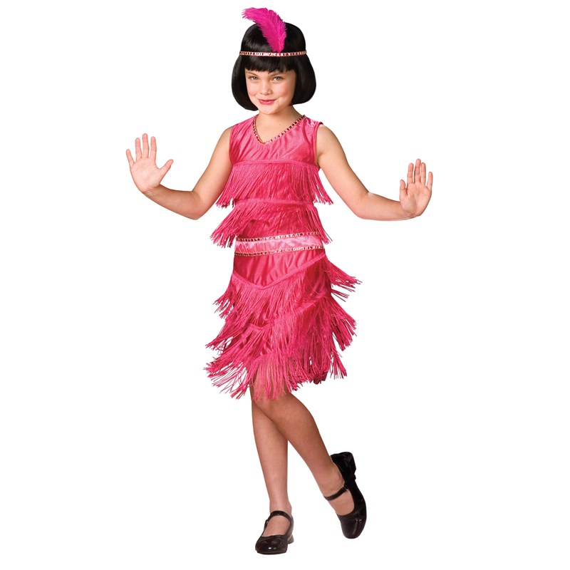 Pink Flapper Child Costume for the 2015 Costume season.
