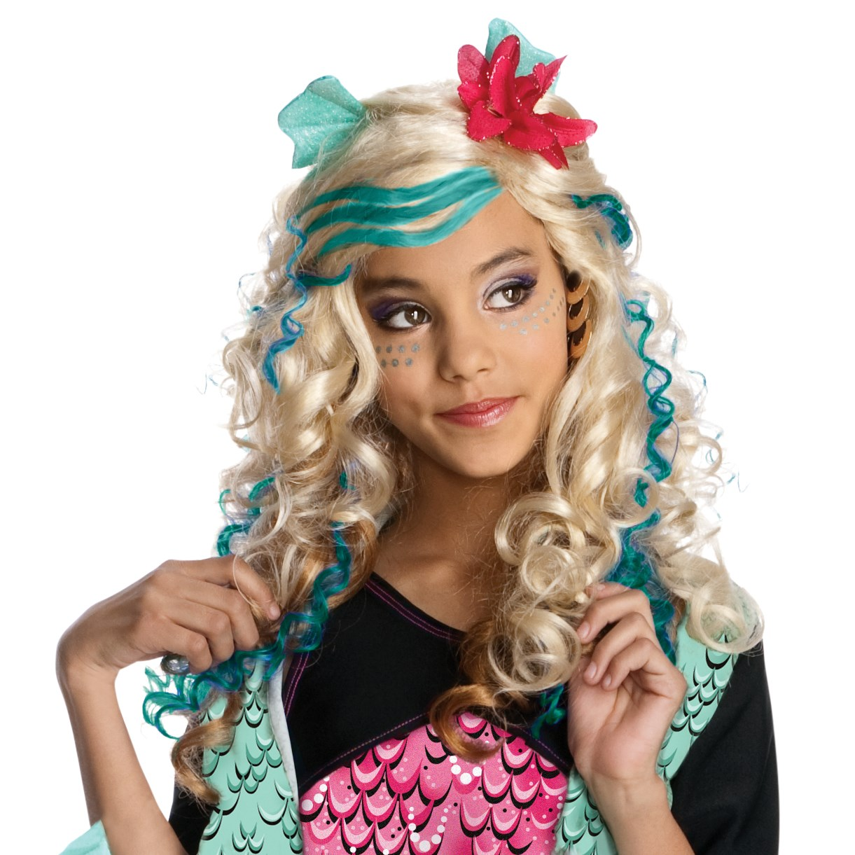 Image of Monster High - Lagoona Blue Wig (Child)