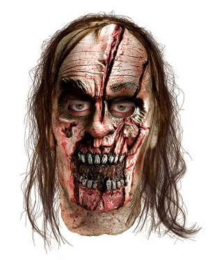 The Walking Dead - Zombie With Split Head Deluxe Mask Adult