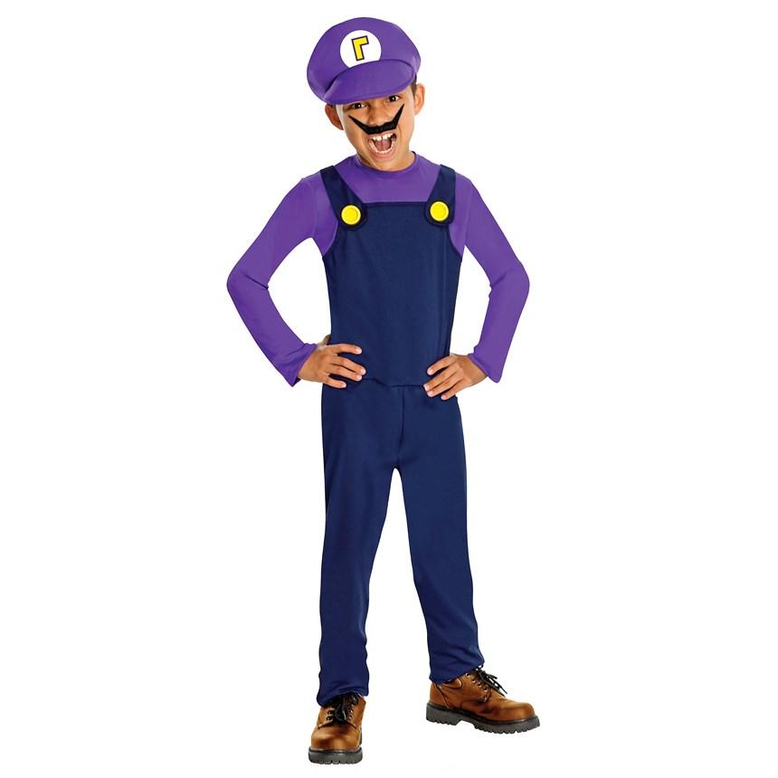 Halloween Costumes Super Mario Bros.   Waluigi Child Costume