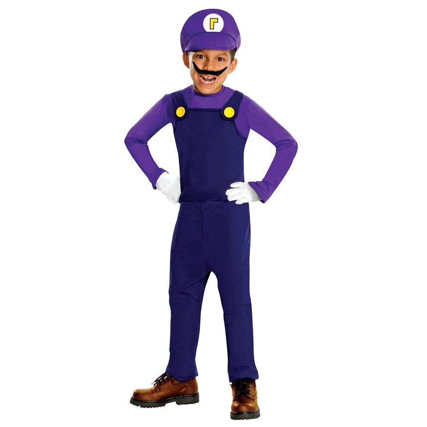 Halloween Costumes Super Mario Bros.   Waluigi Deluxe Toddler / Child