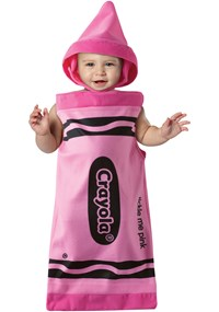 Click Here to buy Crayola Tickle Me Pink Crayon Bunting Baby Costume from BuyCostumes