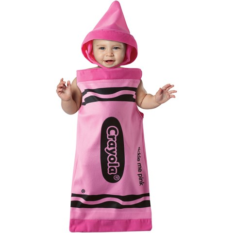 Crayola Tickle Me Pink Crayon Bunting Infant Costume