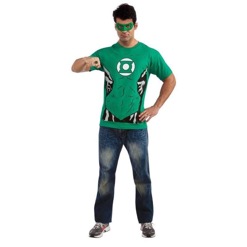 Green Lantern (Male) T Shirt Adult Costume Kit for the 2015 Costume season.
