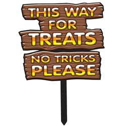 This Way For Treats Lawn Sign