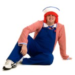 Raggedy Andy Deluxe Plus Adult Costume