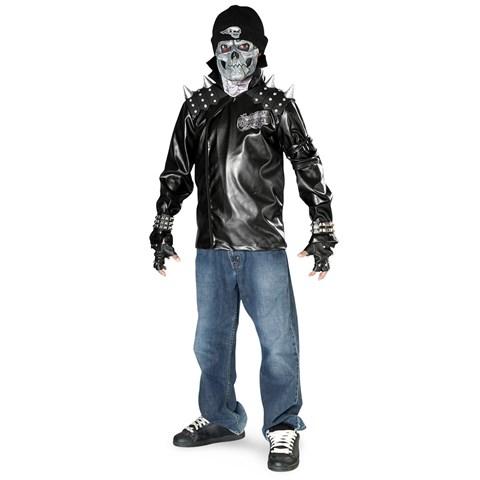 Metal Skull Biker Teen Costume