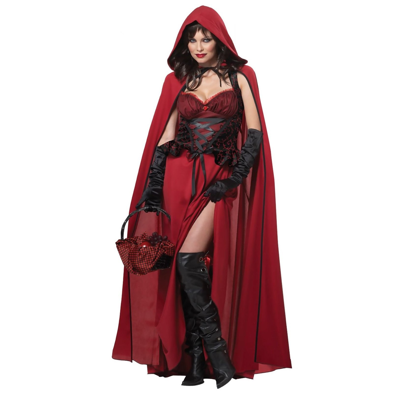 Dark Red Riding Hood Adult Costume
