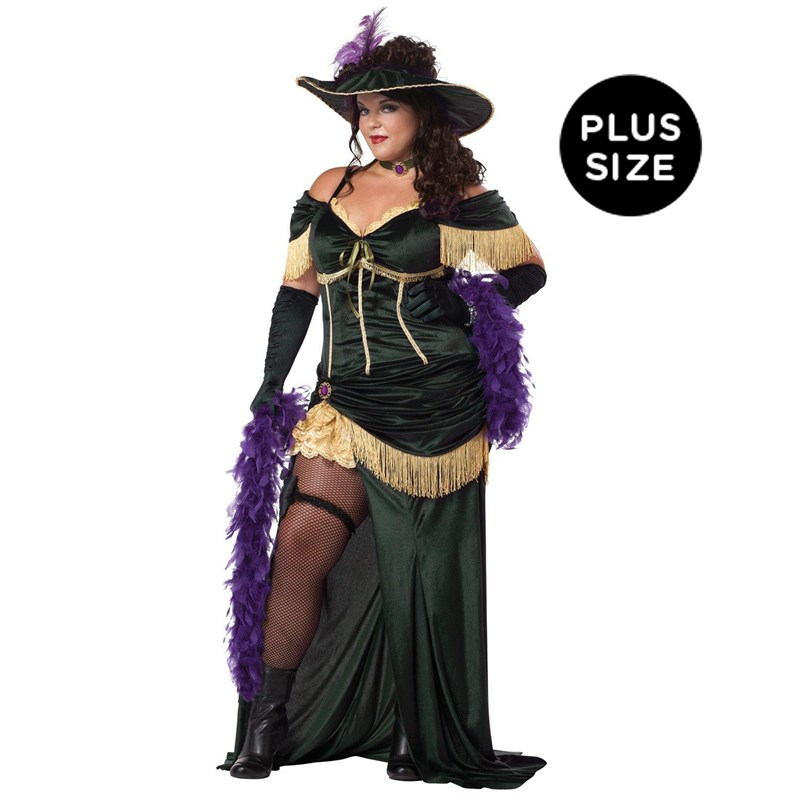 The Saloon Madame Adult Plus Costume for the 2015 Costume season.