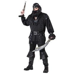 Adult Plundering Pirate Adult Plus Costume- Black: Plus