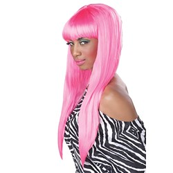 Bubble Gum (Pink) Adult Wig