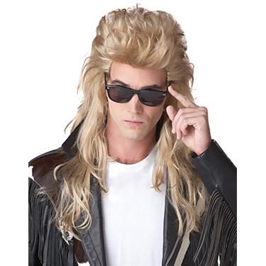 80's Rock Mullet (Blonde) Adult Wig