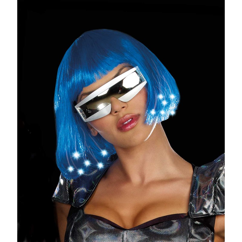 Intergalactic Light Up Blue Wig (Adult) for the 2015 Costume season.