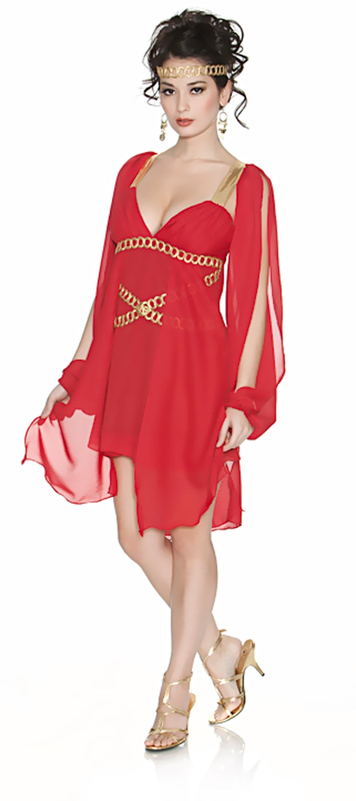 Goddess in Red Adult Costume