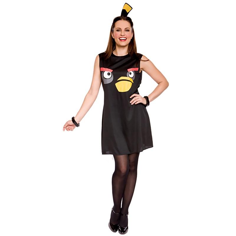 Rovio Angry Birds Sassy Black Bird Adult Costume for the 2015 Costume season.