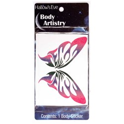 Hallow's Eve Butterfly Body Sticker Adult