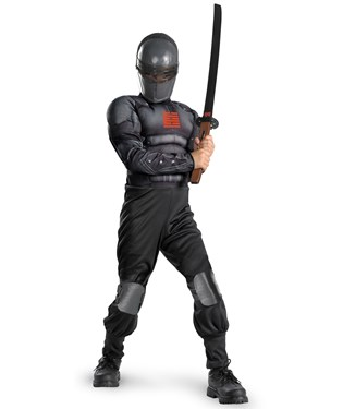 G.I. Joe Retaliation Snake Eyes Light up Deluxe Muscle Chest Child Costume