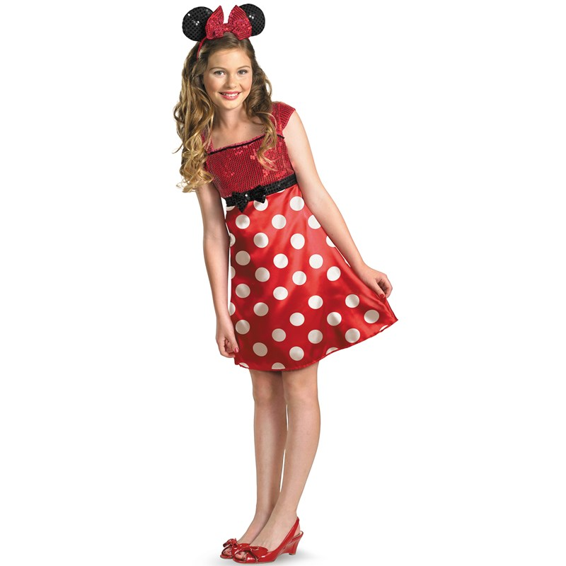 Disney Mickey Mouse Clubhouse Red Minnie Mouse Child  and  Tween Costume for the 2015 Costume season.