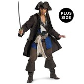 Pirates of the Caribbean Captain Jack Sparrow Prestige Adult Plus Costume
