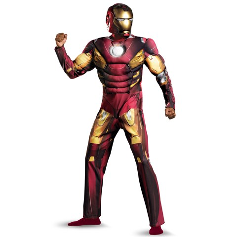 The Avengers Iron Man Mark VII Muscle Plus Adult Costume