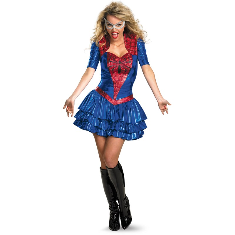 Spider Girl Sexy Deluxe Adult Costume for the 2015 Costume season.