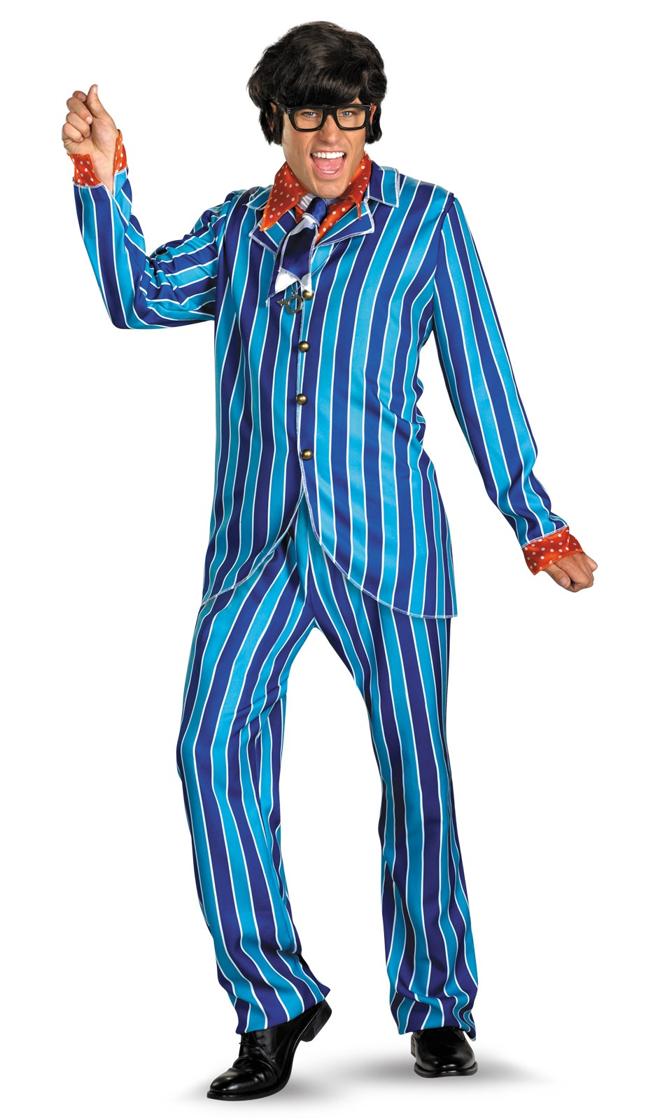 Image of Austin Powers Carnaby Street Blue Suit Deluxe Adult Costume