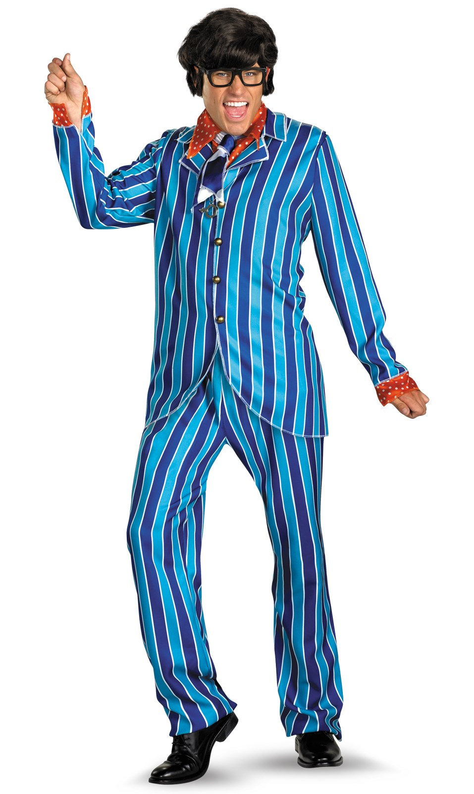 Image of Austin Powers Carnaby Street Blue Suit Deluxe Adult Plus Costume