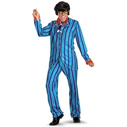 Austin Powers Carnaby Street Blue Suit Deluxe Adult Plus Costume