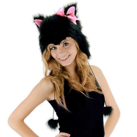Kitty Hoodie Adult Hat