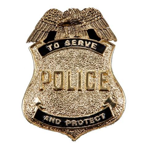 Antique Gold Police Badge