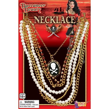 Buccaneer Beauty Cameo Adult Necklace