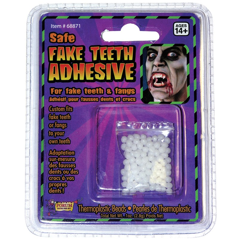 Teeth Replacement Adult Adhesive for the 2015 Costume season.