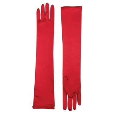 Long Satin Adult Gloves