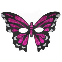 Glitter Butterfly Mask