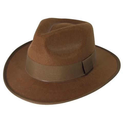 Brown Fedora Adult Hat