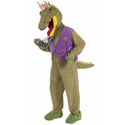 Mardi Gras Alligator King Adult Costume