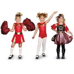 3-in-1 Cheerleader / Gymnast / Pirate Child Costume