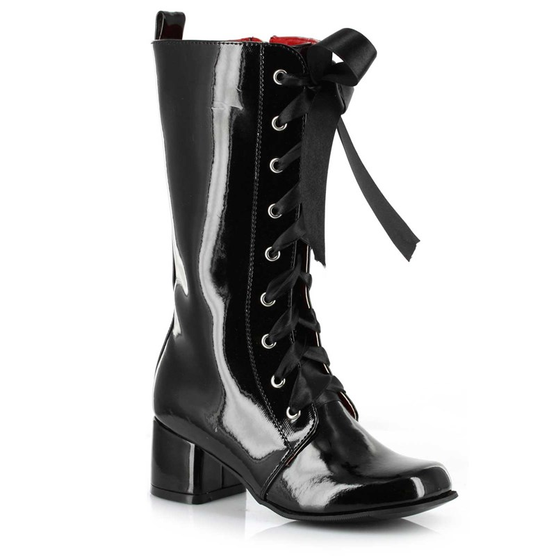Black Lace   Up Child Boots for the 2015 Costume season.